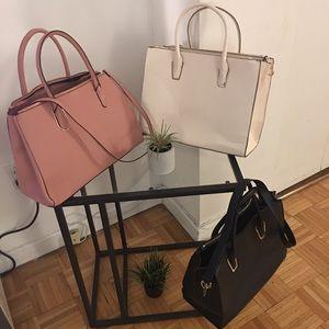 H n M set of three pastel large purses